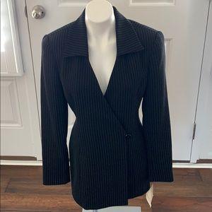 NWT Vintage Dana Buchman Black Pinstripe Jacket